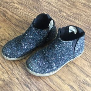GAP navy glitter booties